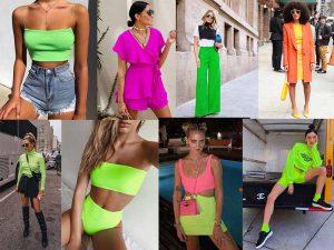 Inspiração de looks neon