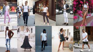 Looks feminino e masculino com dicas de como usar camiseta branca